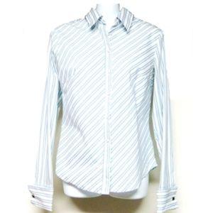 🍄Express Women Stretch Button down Shirt Striped